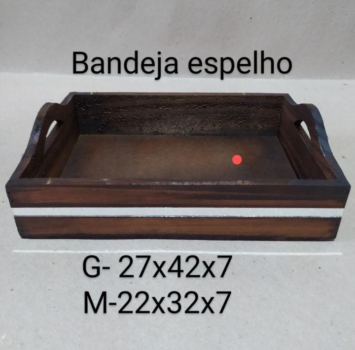 BANDEIJA COM ESPELHO